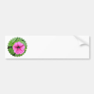 Pink Petunia Flower Bumper Sticker