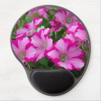 Pink petunia flowers gel mouse pad