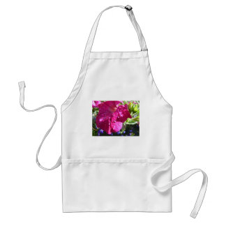 Pink Petunia with Water Droplets Adult Apron
