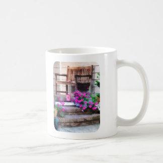 Pink Petunias and Watering Cans Coffee Mug