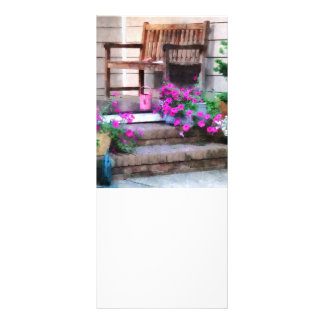 Pink Petunias and Watering Cans Rack Card