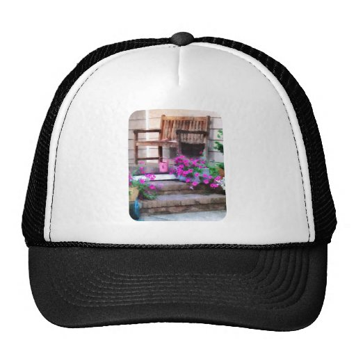 Pink Petunias and Watering Cans Trucker Hat