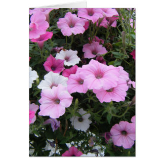 """""""Pink Petunias"""" Stationery Note Card"""