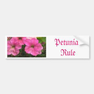 Pink Petunias - close up photo Bumper Sticker