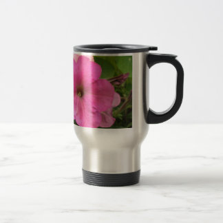 Pink Petunias - close up photo Travel Mug