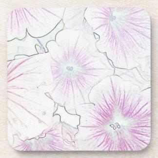 Pink Petunias in Bloom sketch Coasters