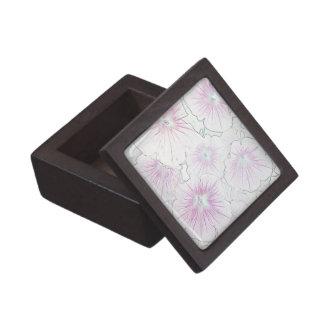 Pink Petunias in Bloom sketch Jewelry Box