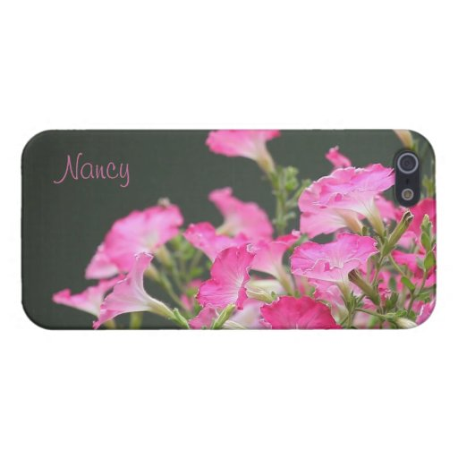 pink petunias iPhone 5 Savvy case Cover For iPhone 5