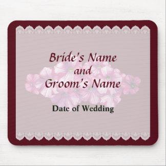 Pink Petunias Wedding Favors Mouse Pad