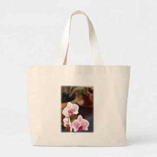 Pink Phal Corner Trio Large Tote Bag