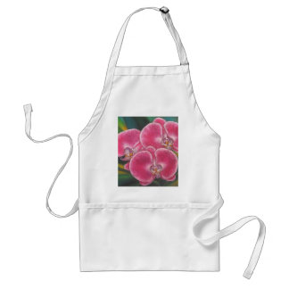 Pink Phalaenopsis Orchids Flowers Acrylic Painting Adult Apron