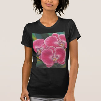 Pink Phalaenopsis Orchids Flowers Acrylic Painting T-Shirt