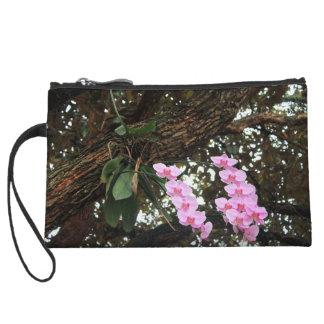Pink phalaenopsis orchids wristlet