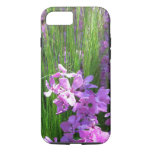 Pink Phlox and Grass Summer Flowers iPhone 7 Case