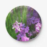 Pink Phlox and Grass Summer Flowers Paper Plate