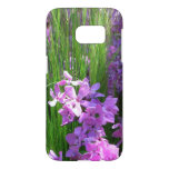 Pink Phlox and Grass Summer Flowers Samsung Galaxy S7 Case