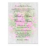 "Pink Phlox and Verse Wedding 3 Postwood/gray 5"" X 7"" Invitation Card"