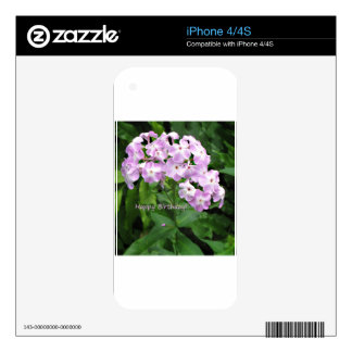 Pink Phlox Decal For The iPhone 4S