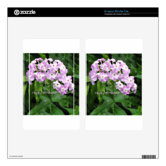 Pink Phlox Kindle Fire Decals