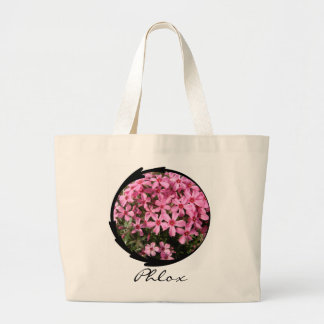 Pink Phlox Tote Bags