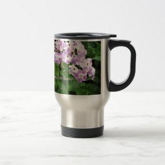 Pink Phlox Travel Mug