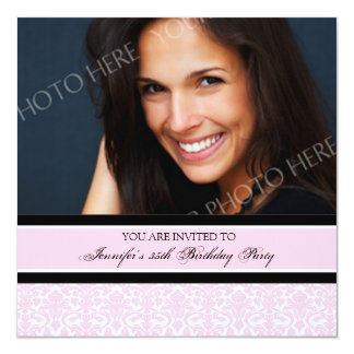 Pink Photo 35th Birthday Party Invitations