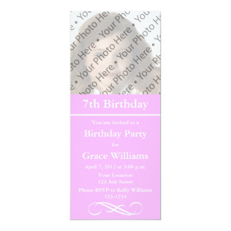 Pink Photo Birthday Invitation or Other Event