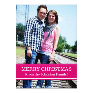 Pink Photo Christmas Cards