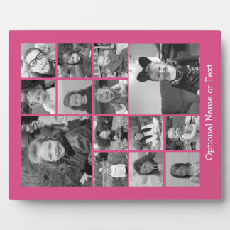 Pink Photo Collage - Add Up to 14 photos Photo Plaque