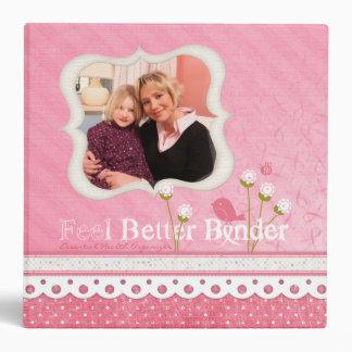 Pink Photo Feel Better Binder