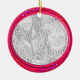 pink photo frame ceramic ornament