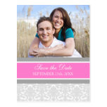 Pink Photo Save the Date Wedding Postcards