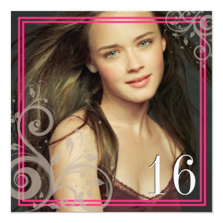 Pink Photo - Sweet 16 Invitation