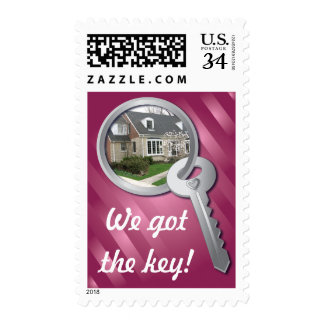 Pink Photo Template Key ring New Home Stamps