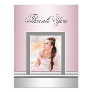 Pink Photo Thank You Card RSVP All Purpose Custom Invitations