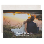 Pink Photo Wedding / Shower Thank You Card
