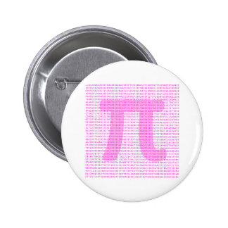 Pink PI 3.14 - science design Pinback Button