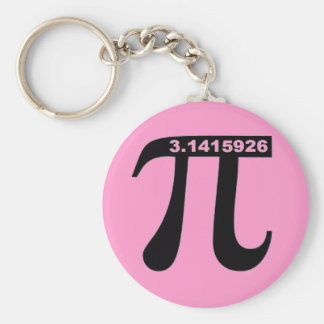 Pink Pi Keychain