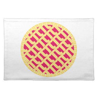 Pink Pi Lattice Pie | Raspberry Strawberry Cloth Placemat