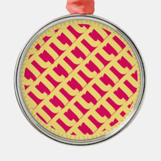 Pink Pi Lattice Pie | Raspberry Strawberry Metal Ornament