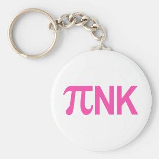 PINK PI NK BASIC ROUND BUTTON KEYCHAIN