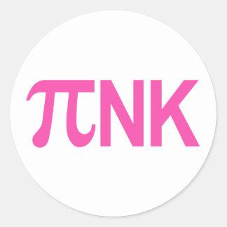 PINK PI NK CLASSIC ROUND STICKER