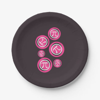 Pink Pi - Pi Day 7 Inch Paper Plate