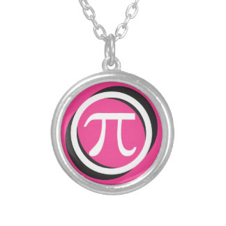 PINK Pi Silver Plated Necklace