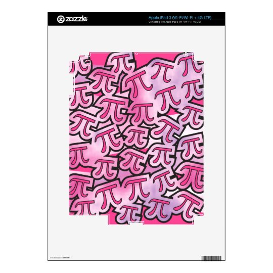 Pink Pi Social Decal For iPad 3