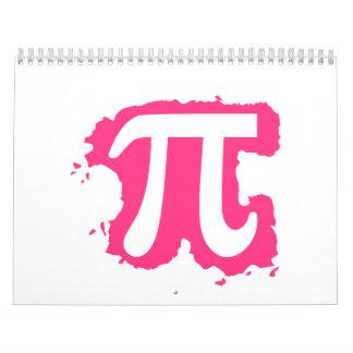 Pink Pi splash Calendar