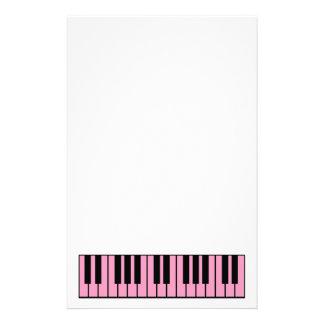 Pink Piano Keyboard Stationery