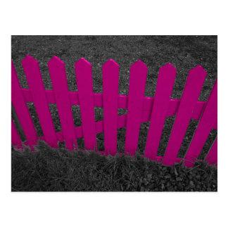 Pink Picket Fence Postcard