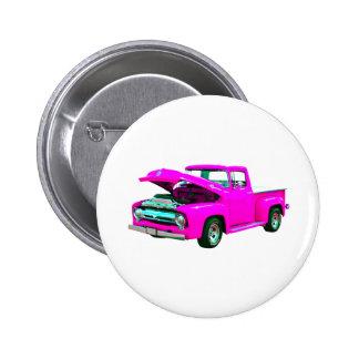 pink pickup pinback button
