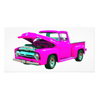 Pink pickup photo card